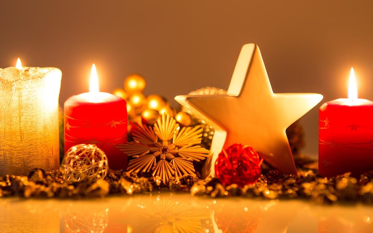Arrangement Weihnachten im Hotel