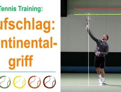 Tennis-Aufschlag: Wie lerne ich den Kontinentalgriff?