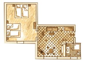 Zimmer Grundriss Appartements