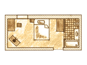 Zimmer Grundriss Einzelzimmer