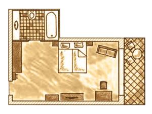 Zimmer Grundriss Luxuszimmer