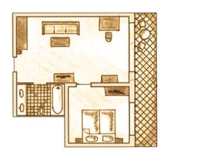Zimmer Grundriss Suite